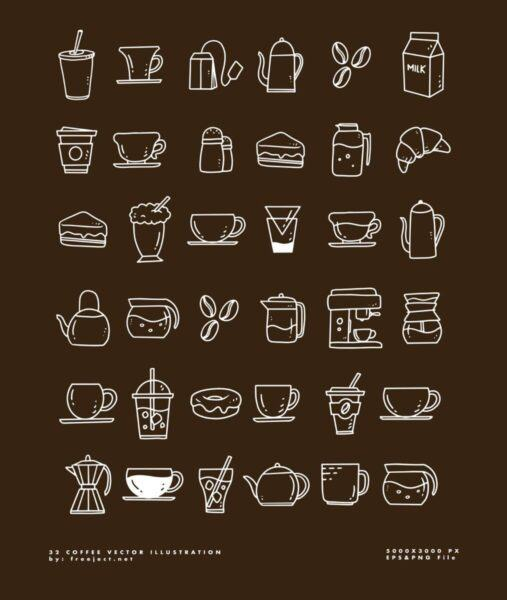 32 Icon mien phi danh cho quan Coffee 2 scaled