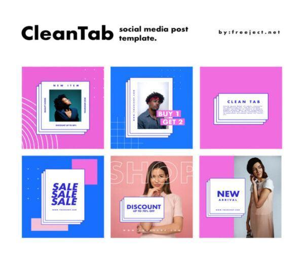 6 bo cleantab template danh cho social media scaled